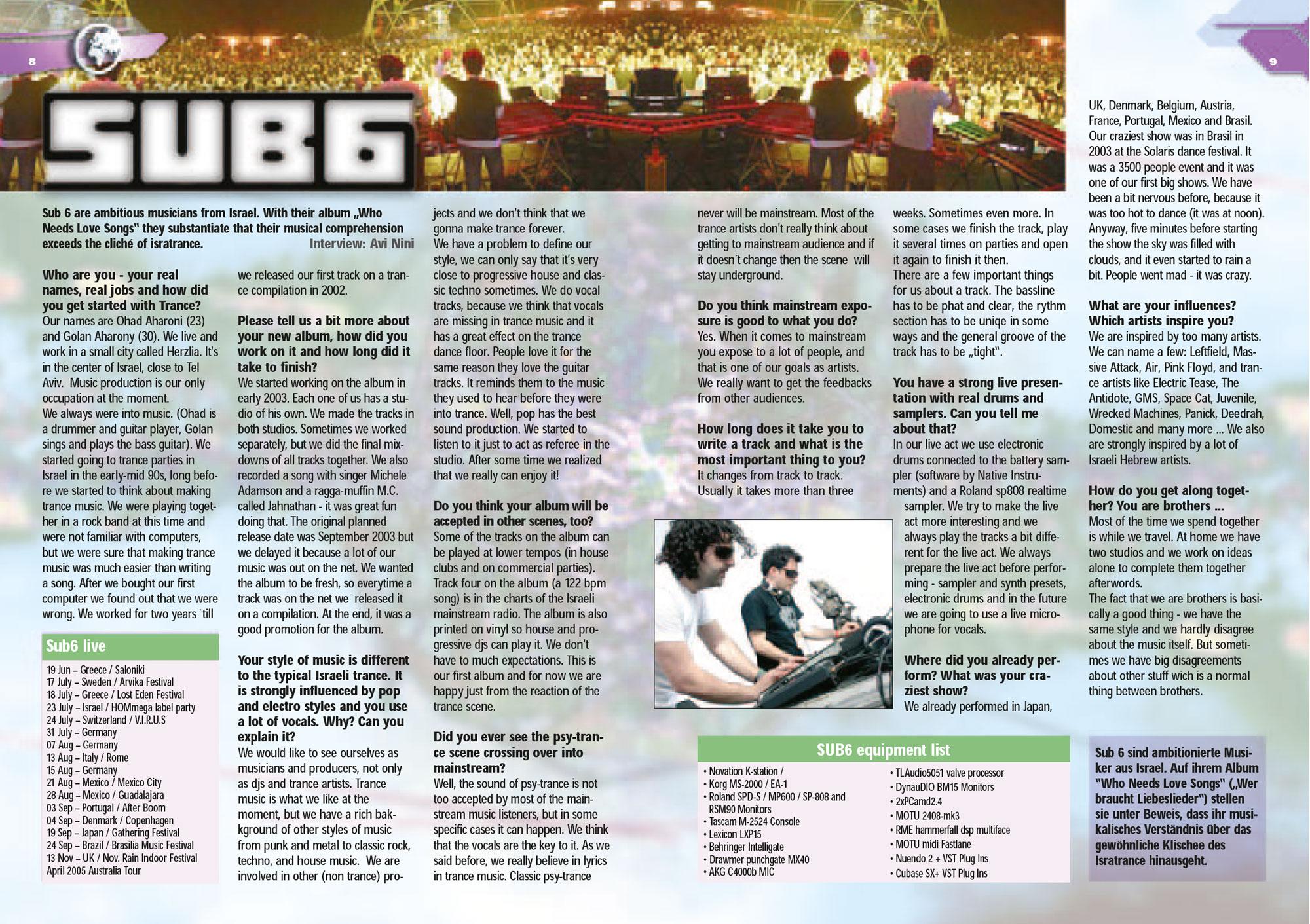 Sub6 article from mushroom magazine July 2003