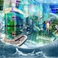 09 soltek the laboratory three futuristic women